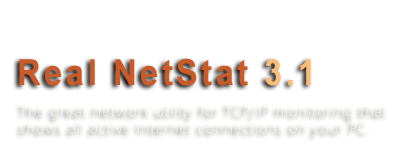 Real NetStat - The Live NetStat Utility For Connection Monitoring. The Great Replacement Of NetStat.exe Console Tool.